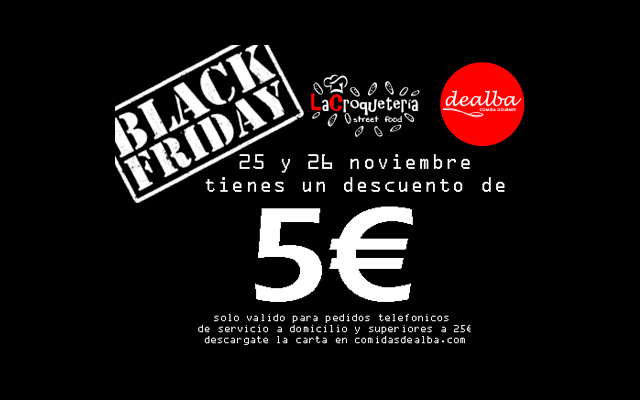 Black Friday en Comidas de Alba